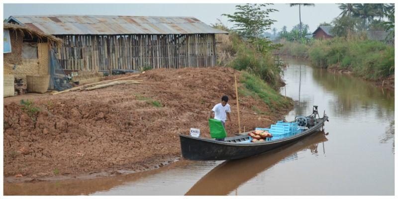 Myanmar Trekking Kalaw Inle Lake de boot
