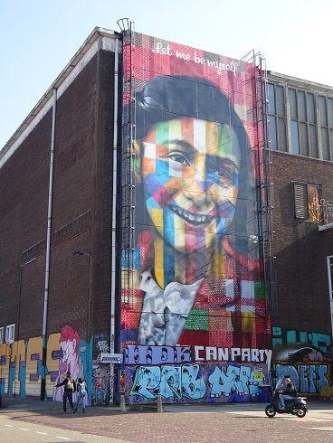 NDSM Amsterdam Nederland Anne frank street art