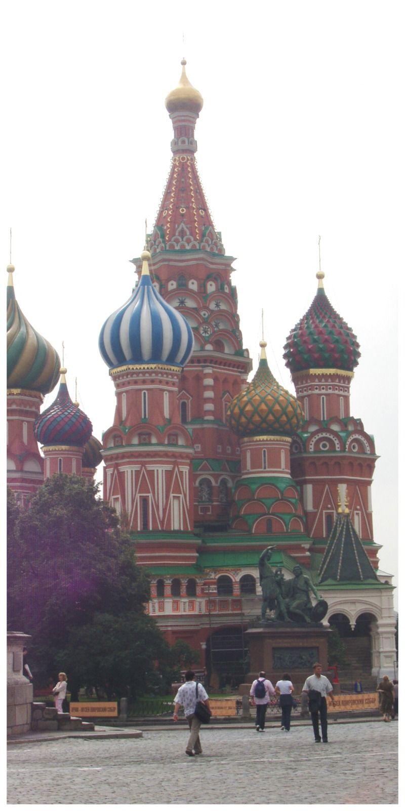 Rusland Moskou Rode Plein Basilius Kathedraa