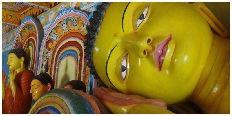 Sri Lanka Anaradhapura reclyning Buddha