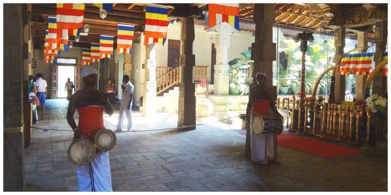 Sri Lanka kandy tempel van de tand ceremonie
