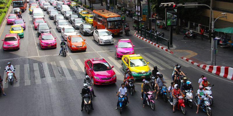 Thailand In de taxi met White Flag van Dido