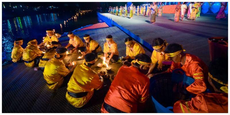 Thailand Loy Krathong Tak voorbereidingen