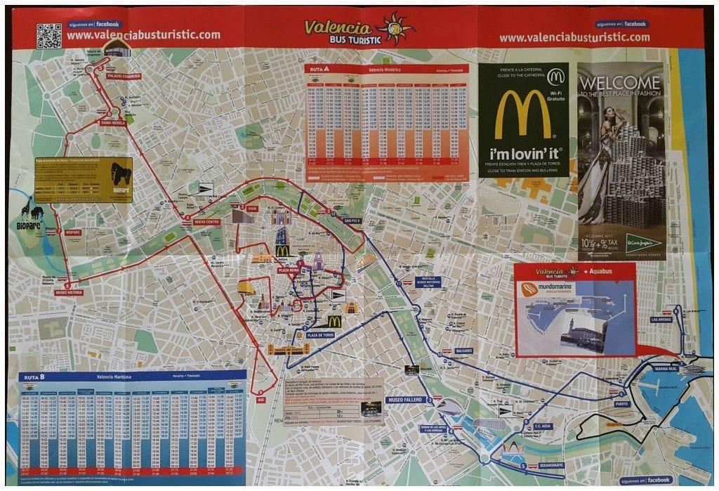 Bus Turistic Valencia map