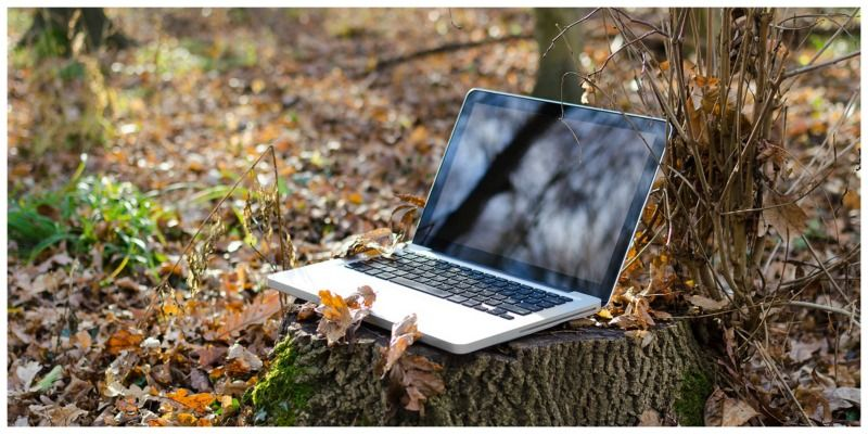 Wi-Fi op reis laptop bos