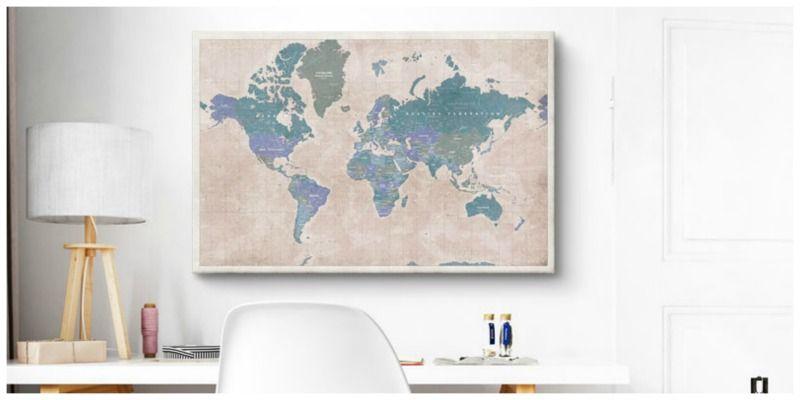 cadeau landkaart