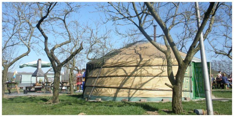 ger tent Overnachten in een yurt