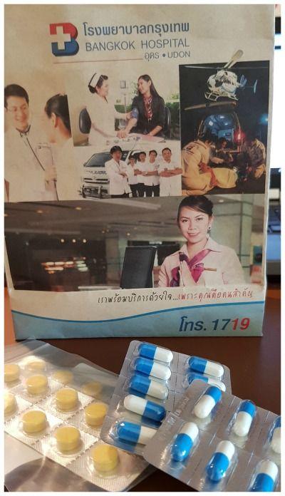 roadtip Thailand begint op de spoedeisende hulp tasje Bangkok Hospital